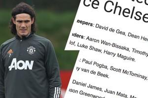 បញ្ជីឈ្មោះរបស់បិសាចក្រហម Man United ត្រៀមប៉ះ Chelsea រាត្រីនេះ